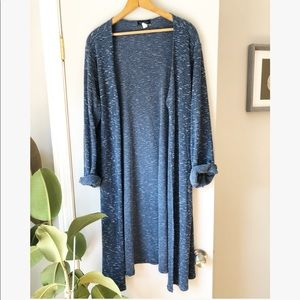 Vintage blue midi duster open cardigan